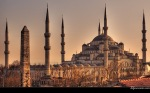Sultan Ahmed Blue Mosque Asia and Europe Istanbul Turkey HD Wallpaper Collection (1)